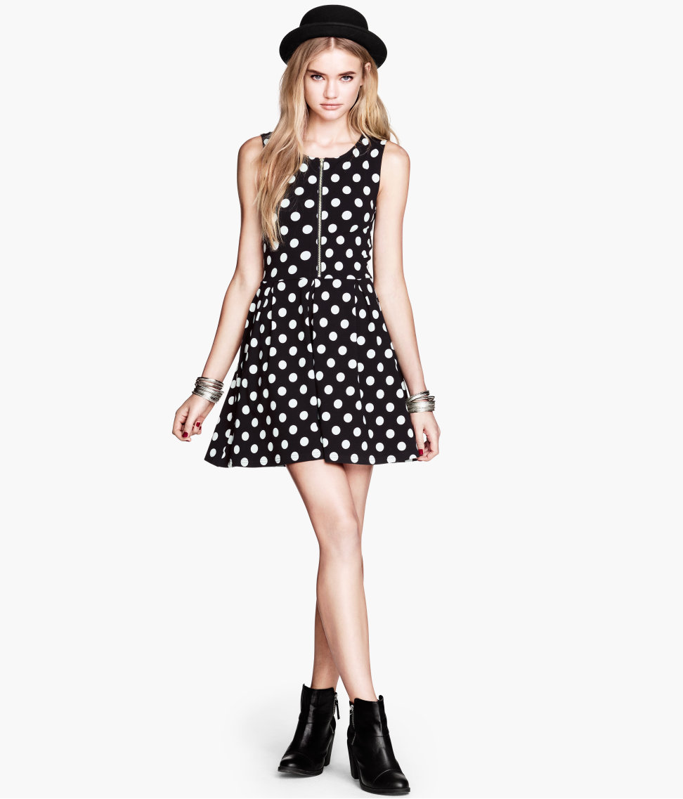 Платье в горох женское