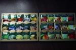 Разнообразные чайные пакетики внутри коробки чая Greenfield Premium Tea Collection