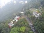 Пик Виктория в Гонконге - дорога по которой поднимается трамвайчик