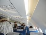 В салоне самолета Bangkok Airways рейс Самуи-Бангкок
