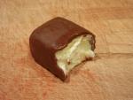 Ванильный сырок Вкуснотеево - уже успел съесть кусочек