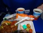 Ужин на рейсе Рим - Москва (баранина)