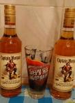 Captain Morgan бутылки и подарочный стакан