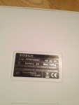 Табличка с информацией о весах Bosch PPW3100