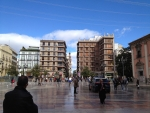 Площадь в историческом центре Валенсии