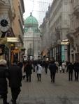 Центральная улица Вены и часть Хофбурга