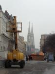 Трактор в Вене - основная достопримечательность города