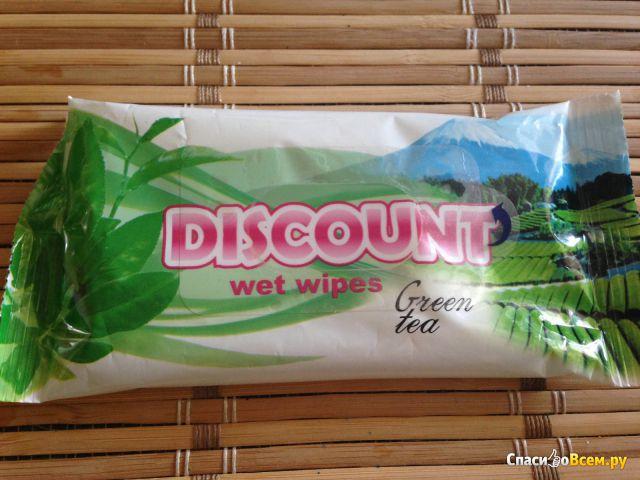 """Влажные салфетки """"Discount"""" Green tea фото"""