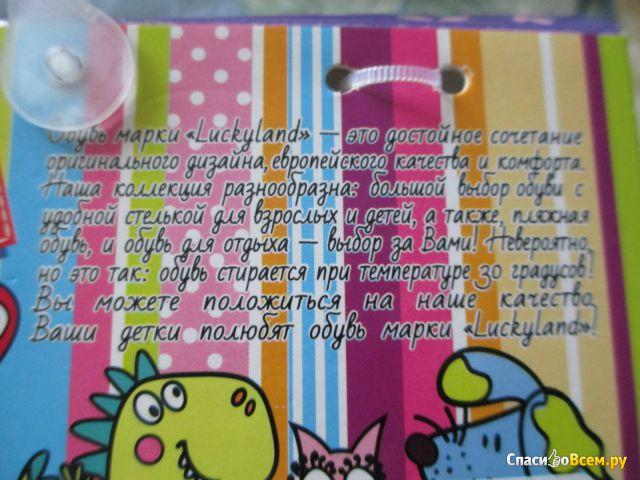 Детские тапочки Lucky Land арт. 1224/27/22/25 K-LMO-S фото