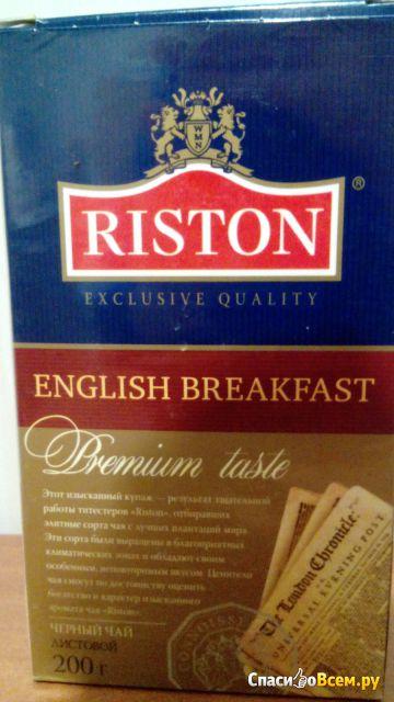 """Черный чай Riston """"English Вreakfast"""" черный фото"""