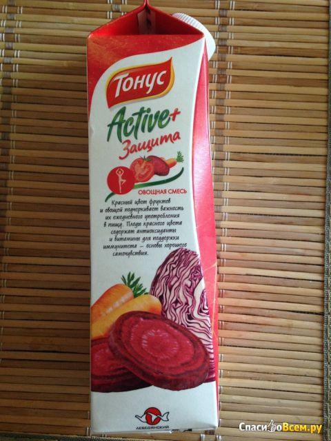 """Нектар """"Тонус"""" Active+ овощная смесь фото"""