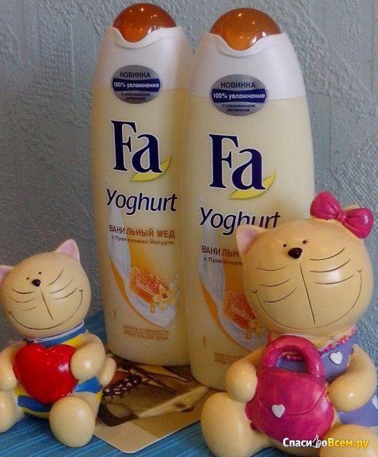 """Крем-гель для душа Fa Yoghurt """"Ванильный мёд"""" с протеинами йогурта фото"""