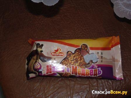 """Мороженое Ласунка """"Маша и Медведь"""" со вкусом какао и ванилина фото"""