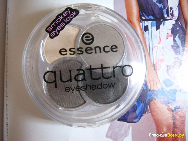 Тени для век Essence Quattro Eyeshadow фото