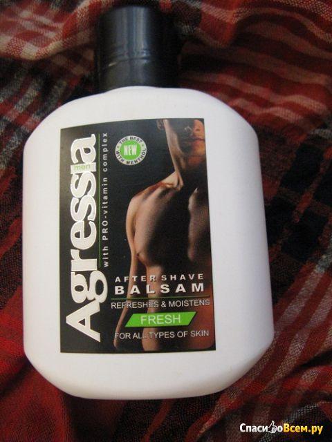 Бальзам после бритья Agressia men Fresh для всех типов кожи с ментолом фото