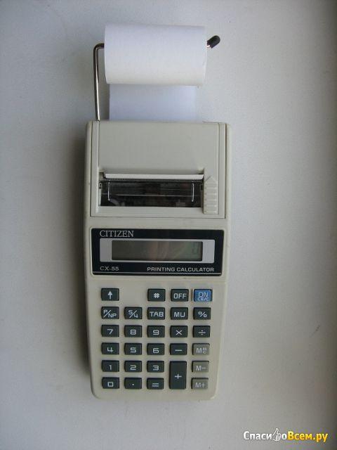 Калькулятор Citizen CX-55 Printing Calculator печатающий фото