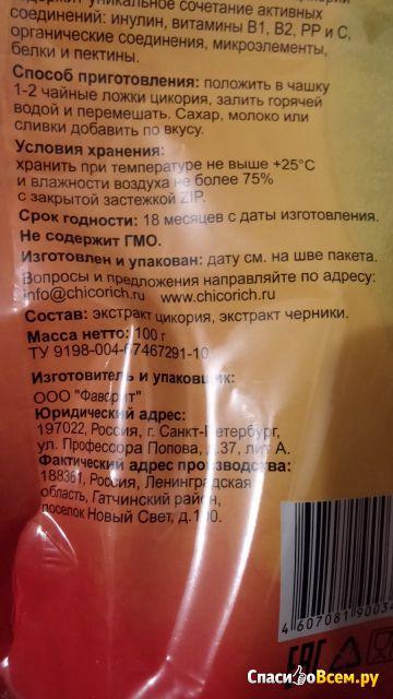 Контрольная закупка цикорий растворимый