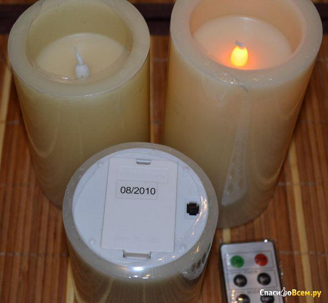 """Светодиодный светильник """"Свеча"""" Lucia 803-R 3 свечи в наборе фото"""