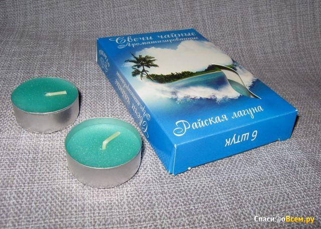 Свечи чайные ароматизированные Fix Price «Райская лагуна» фото
