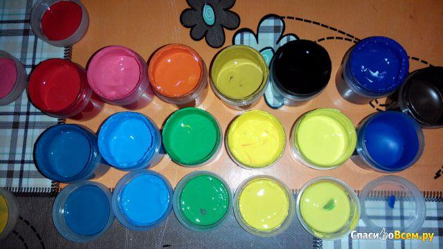 """Краски гуашь """"Невская палитра"""" Цветик набор 16 цветов фото"""