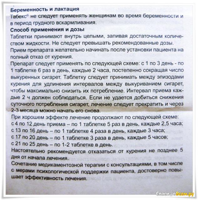 Таблетки табекс (tabex) отзывы, цены, инструкция.