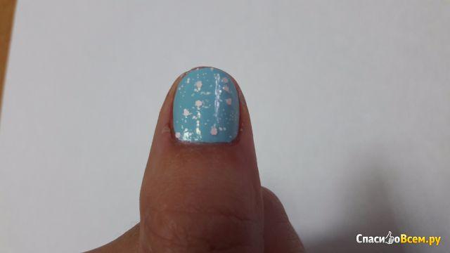 Космический маникюр дизайн ногтей звездное 76