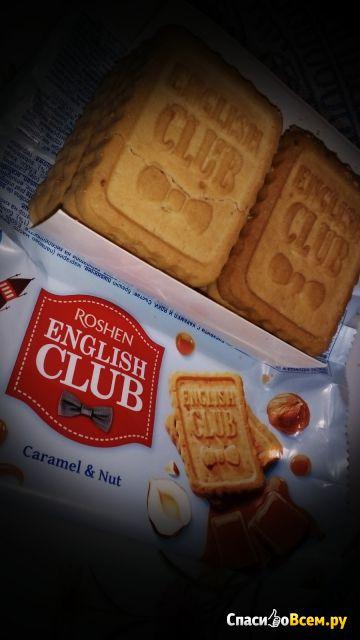 """Печенье сахарное Roshen """"English club"""" карамель и орех фото"""