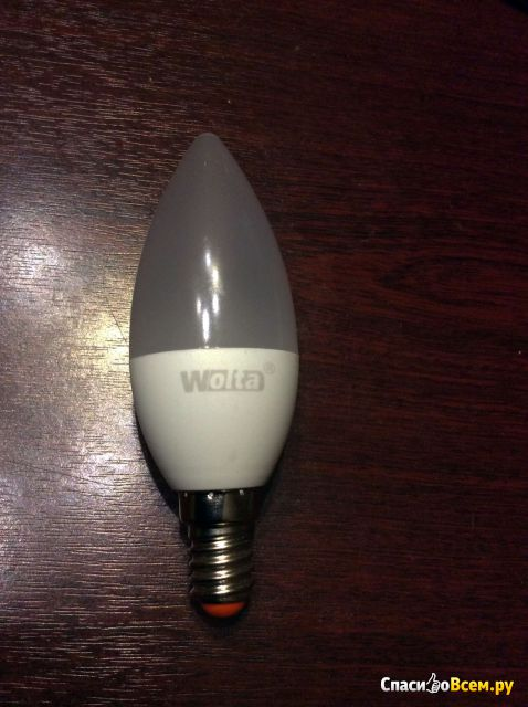 """Лампа светодиодная LED """"Wolta"""" цоколь Е14 6W 560 лм фото"""