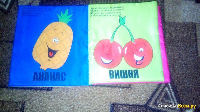 """Игрушка-книжка Мои любимые фрукты """"Все, что я люблю"""" Byfa фото"""