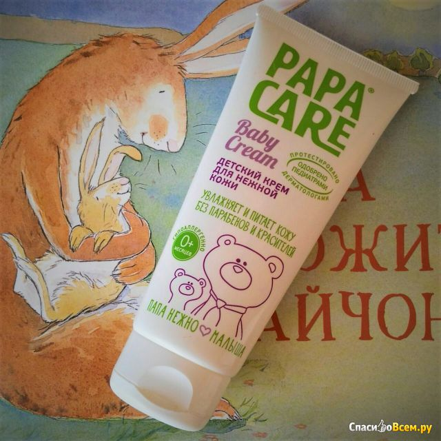 Детский крем для нежной кожи Papa care Baby cream фото