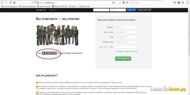 Сайт anketer.org фото