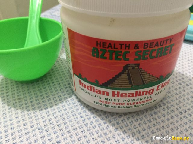 Глина косметическая Aztec Secret Health&Beauty Indian Healing Clay фото