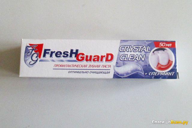 Зубная паста Fresh Guard Crystal Clean + сперминт профилактическая оптимально очищающая фото