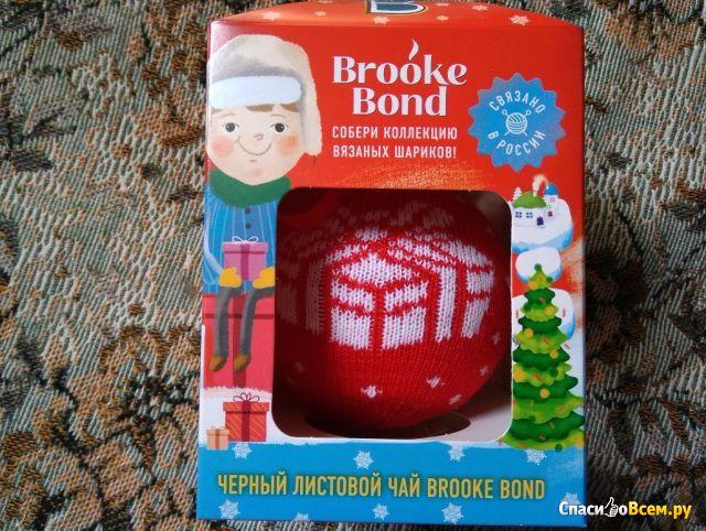 Черный листовой чай Brooke Bond вязаная новогодняя коллекция фото
