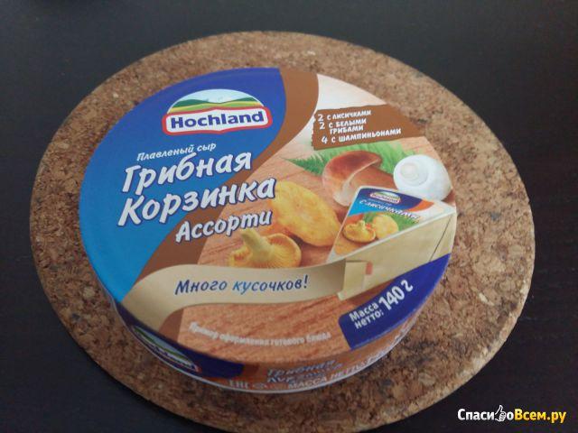 """Плавленный сыр Hochland """"Грибная корзинка"""" ассорти фото"""