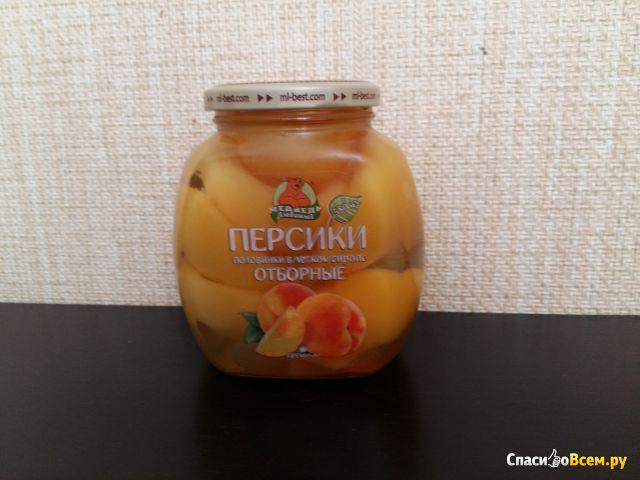 Персики отборные половинки в легком сиропе Медведь любимый фото