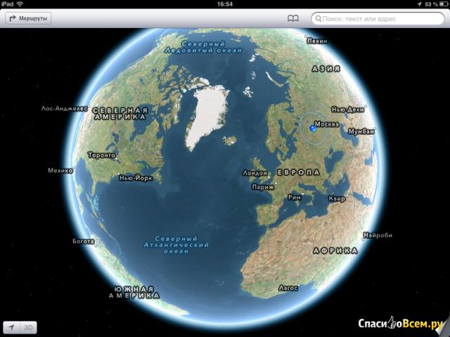 Приложение Карты для iPad фото