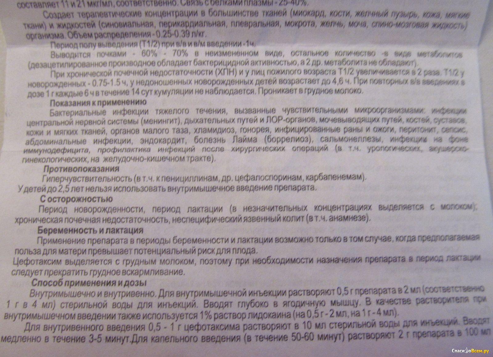 Цефазолин инструкция по применению, отзывы, показания к приему.