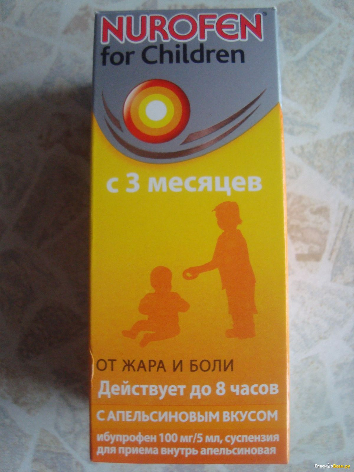 Нурофен при боли зубов для детей
