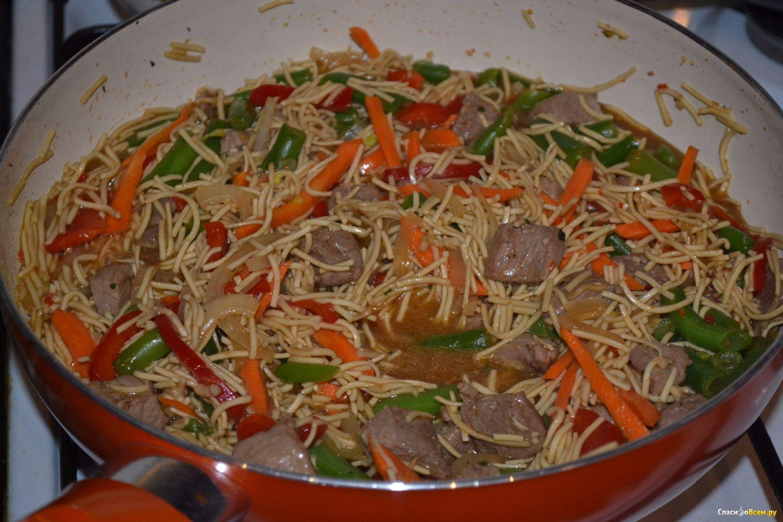 Мясо по китайски с лапшой вок Люблю Покушать 45