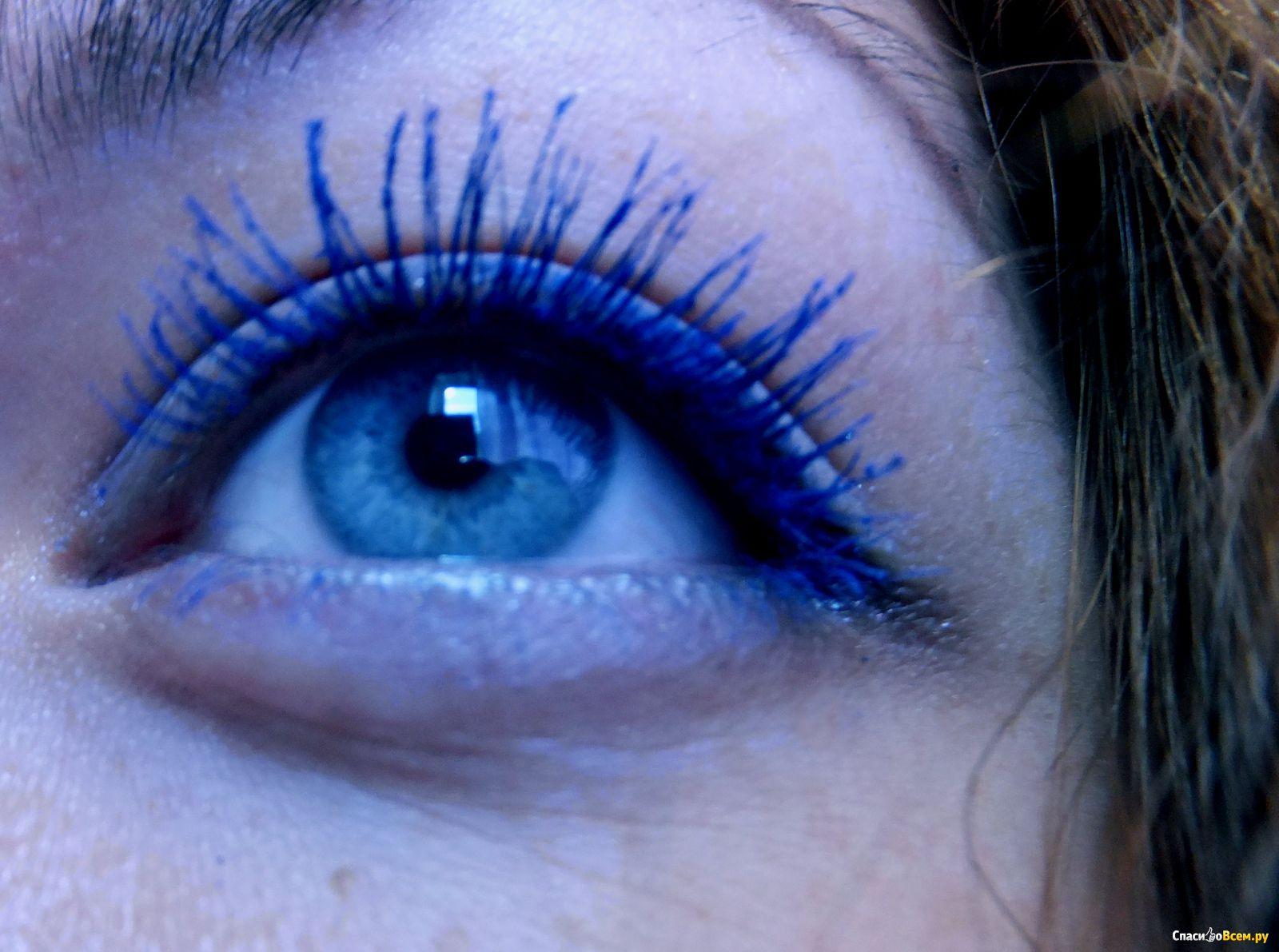Темно синяя тушь для ресниц фото